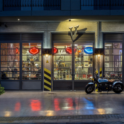 Legendary Motorcycles Garage entrance
